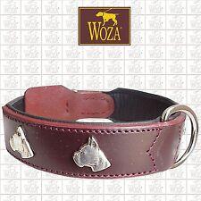 PREMIUM DOG COLLAR WOZA BOXER SOFT NAPA PADDED GENUINE COW FULL LEATHER CE820009