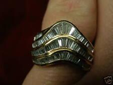 18KT GENUINE BAGUETTE DIAMOND COCKTAIL RING