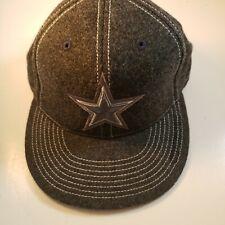 Dallas Cowboys Wool Hat Heather Grey Flex Fit Size 7 1/4 - 7 5/8