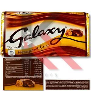 Galaxy Honeycomb Crisp Chocolate Sharing Block Sweet Crunchy Honeycomb Pack 1, 4