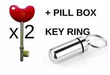 2 x NKS RADAR chiave DISABILI WC e 1 Pillola Box Portachiavi