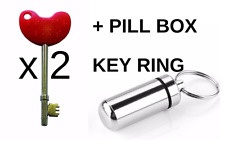 2 x NKS RADAR KEY Disabled Toilet AND 1 Pill Box Keyring