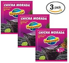 Universal Chicha Morada 120 gr. -3 Pack/Purple Corn Beverage Mix -4.2 oz- 3 Pack