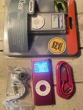 Apple iPod nano 2nd gen Pink 4Gb Used Bundle