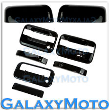 04-08 Ford F150 Black HALF Mirror+2 Door Handle+no keypad no KH+Tailgate Cover