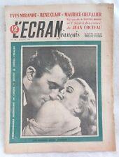 L'ECRAN FRANCAIS N° 142 en 1948 YVES MIRANDE RENE CLAIR MAURICE CHEVALIER MARAIS
