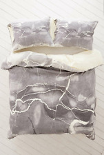 NEW URBAN OUTFITTERS DENY EMANUELA CARRATONI GREY MARBLE DUVET COVER TWIN XL