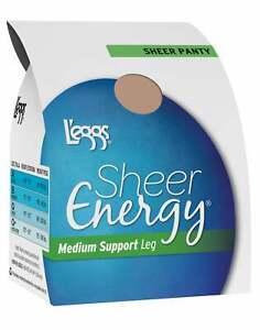 All Sheer Pantyhose L'eggs 6-Pack Sheer Energy Regular Medium Support Toe Waist