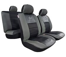 Carbon Black GT Racing Design Spacer Mesh Airbag Auto Seat Cover Front & Rear