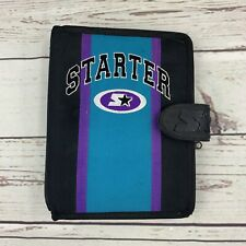Vintage Starter Binder 3 Ring Notebook Black Teal Purple Retro Day Planner Small