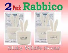 2 Pack- RABBICO Rabbit -Car, Home Air Freshener . Diax Japan - Silky White Scent