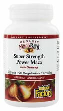 Natural Factors MacaRich Super Strength Power Maca with Ginseng 500 mg 90 VCaps