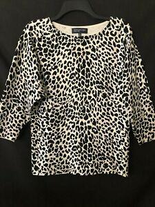 Tribal Animal Print Linen Tunic Shirt Blouse 90/'s Large Natural Fiber Top M L Jones New York