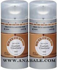 (Lot of 2) Revlon Custom Creations Foundation, Deep 060 - anabale.com