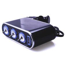 Q61 12-24v coche KFZ 3x mechero enchufe con activar/desactivar + USB 5v/0,5a