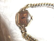 Vintage Ladies Gruen Veri Thin Watch With Case