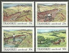 Transkei - Bodenerhaltung Satz postfrisch 1985 Mi. 163-166