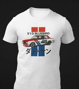 Datsun 510 Bluebird Vintage Race Car T-Shirt