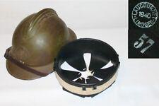 coiffe intérieure cuir noir casque Adrian 1926 t.57