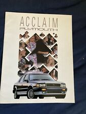 1991 Plymouth Acclaim Original Color Brochure Catalog Prospekt