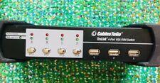CablesToGo 35555 Trulink 4-Port VGA USB 2.0 KVM Switch Audio - Mint Condition!