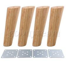 4pcs 18cm Height Wood Oblique Tapered Furniture Feet Tea Table Legs