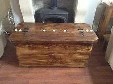 La grande Morbihan a reclaimed timber coffee table with 7 tea light recesses
