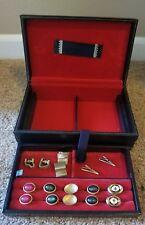 Vintage Mens Cufflink Tieclip Tie Clip Set in Box Scandinavian