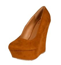 Delicious Women's Meroz Rounded Toe Wedge Platform Pumps