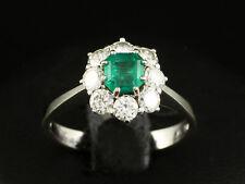 Wertvoller Smaragd Brillant Ring 1,35ct (Gravur)   750/- Weißgold