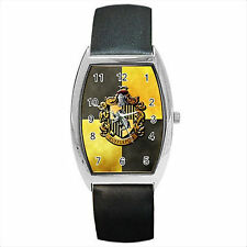 NEW* HOT HARRY POTTER HUFFLEPUFF HOGWARTS SCHOOL Barrel Wrist Watch Gift D03