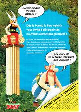 Publicité Advertising 038  1994    le Parc Astérix    &  Oblélix
