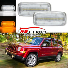 White Amber Clear Lens LED Side Marker Lights For Jeep Patriot Compass Commander