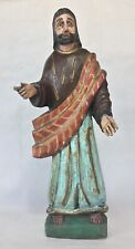 "Guatemalan Wood Carved Santo Jesus or St John 16"" Tall"