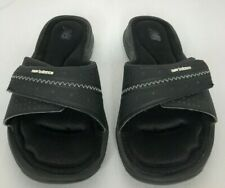 New Balance boys size 5 sandals black adhesive strap cushioned innersole