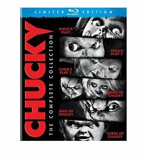 CHUCKY -THE COMPLETE MOVIE COLLECTION 1-6 (6 films) -  Blu Ray -Region free