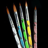 5pcs Nail Art Acrylic Nail Art UV Gel Carving Pen Brush Liquid No. 2/4/6/8/10