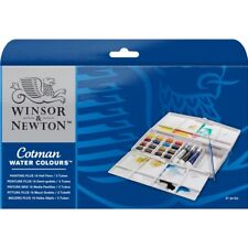 Winsor & Newton Cotman Acquerelli pittura PLUS 16 Half Pan & Set Tubi 3