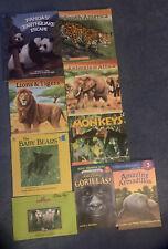Lot Of 9 Mammal Books Children Animals Monkeys Pandas Bears Gorillas Nonfiction