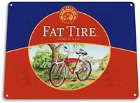 """Fat Tire Beer"" Metal Art Store Pub Brew Beer Liquor Shop Bar Man Cave Sign"