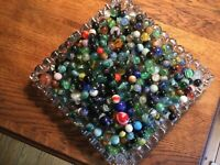 6 Pound Lot Assorted Marbles, Vintage to Jabo, Akro Agate, Cats Eyes, Shooters