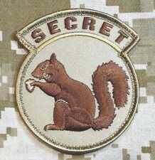 BLACK OPS USA ARMY TOP SECRET SQUIRREL DESERT TACTICAL HOOK PATCH