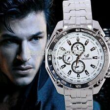 Men Watch Top Brand Luxury Military Wrist Watches White  Full Steel Sports