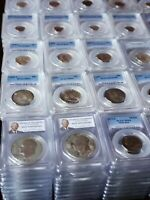 20 PCGS Graded Coins Mixed Date Denomination & Grades - PCGS Book Value $275 Min