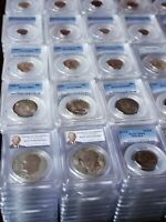 20 PCGS Graded Coins Mixed Date Denomination & Grades - PCGS Book Value $500 Min