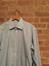Turnbull & Asser Exclusive Blue Plaid Shirt 16.5/42 Fitted Excellent!