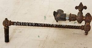1800s antique victorian SWIVEL GAS LAMP WALL single ARM PIPE w VALVE