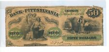1861 $50 DOLLARS BANK OF PITTSYLVANIA, CHATHAM, STATE OF VIRGINIA  - CIR