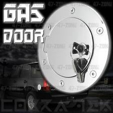 Chrome Fuel Gas Door w/ lock 07-13 Gmc Sierra Chevy Silverado 1500 2500 3500
