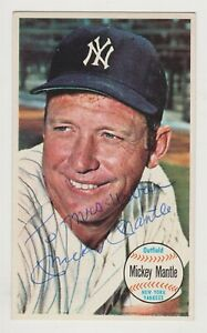 Mickey Mantle Autographed 1964 Topps Giant Card # 24